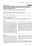 """Báo cáo y học: """"Adalimumab clinical efficacy is associated with rheumatoid factor and anti-cyclic citrullinated peptide antibody titer reduction: a one-year prospective study"""""""