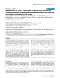 "Báo cáo y học: ""dentification of blood biomarkers of rheumatoid arthritis by transcript profiling of peripheral blood mononuclear cells from the rat collagen-induced arthritis model"""