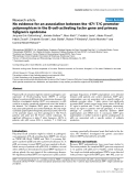 """Báo cáo y học: """"No evidence for an association between the -871 T/C promoter polymorphism in the B-cell-activating factor gene and primary Sjögren's syndrome"""""""