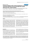 """Báo cáo y học: """" Functional inhibition of NF-κB signal transduction in αvβ3 integrin expressing endothelial cells by using RGD-PEG-modified adenovirus with a mutant IκB gene"""""""