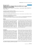"Báo cáo y học: ""dentification of collagen-induced arthritis loci in aged multiparous female mice"""