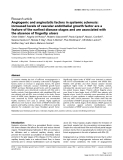 """Báo cáo y học: """"Angiogenic and angiostatic factors in systemic sclerosis: increased levels of vascular endothelial growth factor are a feature of the earliest disease stages and are associated with the absence of fingertip ulcers"""""""