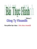 Bài tập thực hành quản trị sản xuất công ty Vinamilk - sản phẩm sữa chua vinamilk