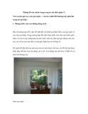 Những lỗi cần tránh trong trang trí nội thất (phần 2)