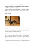 Ứng dụng phong cách nội thất Nhật Bản