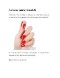 Ấn tượng mạnh với nail đỏ