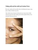Những mẫu nail hot nhất tại Fashion Week
