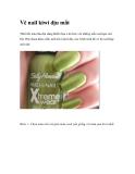 Vẽ nail kiwi dịu mắt