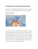 Lời khuyên cho móng chân bạn luôn xinh