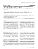 """Báo cáo y học: """"Folate-targeted immunotherapy effectively treats established adjuvant and collagen-induced arthritis"""""""