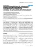 """Báo cáo y học: """"NOS2 polymorphisms associated with the susceptibility to pulmonary arterial hypertension with systemic sclerosis: contribution to the transcriptional activity"""""""
