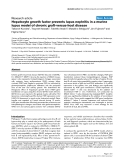 """Báo cáo y học: """" Hepatocyte growth factor prevents lupus nephritis in a murine lupus model of chronic graft-versus-host disease"""""""