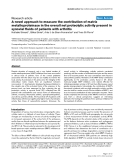 """Báo cáo y học: """"A novel approach to measure the contribution of matrix metalloproteinase in the overall net proteolytic activity present in synovial fluids of patients with arthritis"""""""