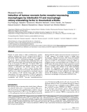 """Báo cáo y học: """"Induction of tumour necrosis factor receptor-expressing macrophages by interleukin-10 and macrophage colony-stimulating factor in rheumatoid arthritis"""""""