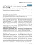 "Báo cáo y học: ""Mice expressing HLA-DQ6α8β transgenes develop polychondritis spontaneously"""