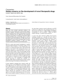 """Báo cáo y học: """"Safety concerns on the development of novel therapeutic drugs"""""""