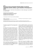 """Báo cáo y học: """"Response to the commentary 'Pooled indices to measure rheumatoid arthritis activity: a good reflection of the physician's mind"""""""