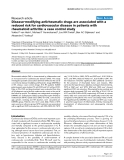 "Báo cáo y học: ""Disease-modifying antirheumatic drugs are associated with a reduced risk for cardiovascular disease in patients with rheumatoid arthritis: a case control study"""