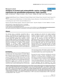"""Báo cáo y học: """"Analysis of normal and osteoarthritic canine cartilage mRNA expression by quantitative polymerase chain reacti"""""""