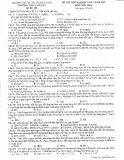 Đề thi thử môn hóa học trường đại học sư phạm Hà Nội - đề 3