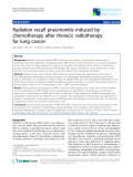 """Báo cáo khoa học: """"Radiation recall pneumonitis induced by chemotherapy after thoracic radiotherapy for lung cancer"""""""