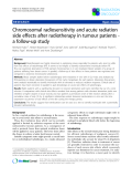 """Báo cáo khoa học: """"Chromosomal radiosensitivity and acute radiation side effects after radiotherapy in tumour patients a follow-up study"""""""