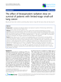 """Báo cáo khoa học: """"The effect of bioequivalent radiation dose on survival of patients with limited-stage small-cell lung cancer"""""""