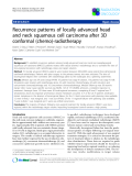 """Báo cáo khoa học: """"Recurrence patterns of locally advanced head and neck squamous cell carcinoma after 3D conformal (chemo)-radiotherapy"""""""