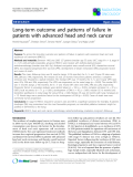 """Báo cáo khoa học: """" Long-term outcome and patterns of failure in patients with advanced head and neck cancer"""""""