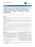 """Báo cáo khoa học: """"Simultaneous in-field boost for patients with 1 to 4 brain metastasis/es treated with volumetric modulated arc therapy: a prospective study on quality-of-life"""""""