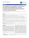 """Báo cáo khoa học: """" SemiNeo-adjuvant chemo-radiation of rectal cancer with Volumetric Modulated Arc Therapy: summary of technical and dosimetric features and early clinical experience"""""""