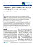 "Báo cáo khoa học: "" Assessment of Epidermal Growth Factor Receptor (EGFR) expression in human meningioma"""