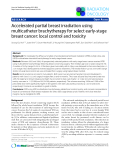 """Báo cáo khoa học: """" Accelerated partial breast irradiation using multicatheter brachytherapy for select early-stage breast cancer: local control and toxicity"""""""