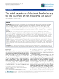 """Báo cáo khoa học: """"The initial experience of electronic brachytherapy for the treatment of non-melanoma skin cancer"""""""