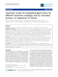 """Báo cáo khoa học: """"Treatment results for hypopharyngeal cancer by different treatment strategies and its secondary primary- an experience in Taiwan"""""""