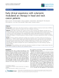 """Báo cáo khoa học: """"Early clinical experience with volumetric modulated arc therapy in head and neck cancer patients"""""""