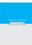 Building skills for the TOEFL iBT Transcripts