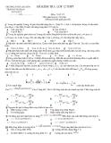 Đề kiểm tra Lý 12 - THPT Trần Hưng Đạo (Kèm Đ.án)
