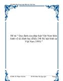 """Đề tài """" Quy định của pháp luật Việt Nam hiện hành về tội đánh bạc (Điều 248 Bộ luật hình sự Việt Nam 1999) """""""