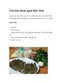Chả tôm thơm ngon kiểu Thái