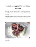 Sườn bò nướng giúp bé ăn cơm không biết chán