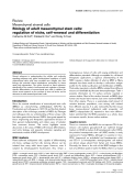 "Báo cáo y học: ""Biology of adult mesenchymal stem cells: regulation of niche, self-renewal and differentiation"""