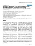 "Báo cáo y học: ""Constitutive upregulation of the transforming growth factor-β pathway in rheumatoid arthritis synovial fibroblasts"""