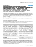 """Báo cáo y học: """"Diurnal secretion of growth hormone, cortisol, and dehydroepiandrosterone in pre- and perimenopausal women with active rheumatoid arthritis: a pilot case-control study"""""""