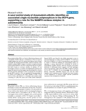 """Báo cáo y học: """"A case-control study of rheumatoid arthritis identifies an associated single nucleotide polymorphism in the NCF4 gene, supporting a role for the NADPH-oxidase complex in autoimmunity"""""""