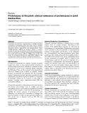 """Báo cáo y học: """"Proteinases in the joint: clinical relevance of proteinases in joint destruction Yvonne Rengel, Caroline Ospelt and Steffen Gay"""""""