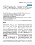 """Báo cáo y học: """"Differential responsiveness to immunoablative therapy in refractory rheumatoid arthritis is associated with level and avidity of anti-cyclic citrullinated protein autoantibodies: a case study"""""""