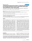 "Báo cáo y học: ""Chondroitin and glucosamine sulfate in combination decrease the pro-resorptive properties of human osteoarthritis subchondral bone osteoblasts: a basic science study"""