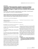 """Báo cáo y học: """"Correction: Ultrasonography, magnetic resonance imaging, radiography, and clinical assessment of inflammatory and destructive changes in fingers and toes of patients with psoriatic arthritis"""""""