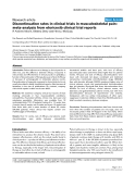 """Báo cáo y học: """"Discontinuation rates in clinical trials in musculoskeletal pain: meta-analysis from etoricoxib clinical trial reports"""""""